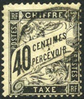 France J20 Used 40c Postage Due Of 1882 - Postage Due