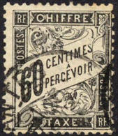 France J22 Used 60c Postage Due Of 1884 - Postage Due