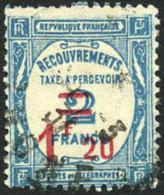 France J66 Used 1.20fr On 2fr Postage Due Of 1929 - Postage Due