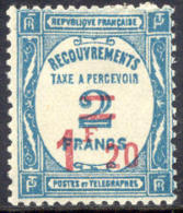 France J66 Mint Hinged 1.20fr On 2fr Postage Due Of 1929 - 1859-1955 Mint/hinged