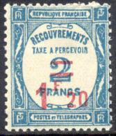 France J66 Mint Hinged 1.20fr On 2fr Postage Due Of 1929 - Postage Due