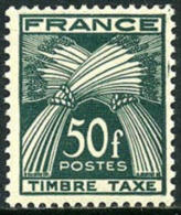 France J91 Mint Never Hinged 50fr Postage Due Of 1950 - 1859-1955 Mint/hinged