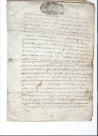 Normandie/Généralité De Caen/13 Sols/document Vélin/1704     CAGE1 - Seals Of Generality