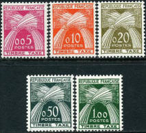 France J93-97 Mint Never Hinged Postage Due Set From 1960 - Postage Due