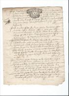 Normandie/Généralité De Caen/16 Deniers/Vergé/1727?     CAGE2 - Seals Of Generality