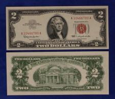 STATI UNITI UNITED STATES USA 2 Two Dollari 1963A Bollino Rosso Rara Unc.#B894 - Sonstige
