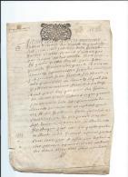 Normandie/Généralité D´Alençon/13 Sols/4 Deniers/papier épais /1697?1797 ?     CAGE4 - Cachets Généralité