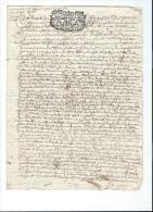 Normandie/Généralité De Rouen /4 Deniers/papier Vergé /1703    CAGE5 - Cachets Généralité