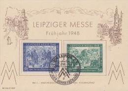 GG Sonderkarte Leipziger Messe Minr.967, 968 SST Leipzig 2.3.48 FDC - Gemeinschaftsausgaben