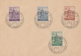 West-Sachsen Brief Minr.162-165 SST Leipzig 12.5.46 - Sowjetische Zone (SBZ)