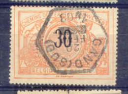 F377 -België  Spoorweg Chemin De Fer  Met Stempel  6- Hoek   GAND (SUD) - 1895-1913