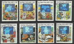 FINNLAND FINLAND 1995 Hologrammfolie Hologram Michel 1276 - 1283 O - Hologrammes