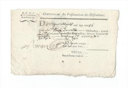 Normandie/Généralité D´Alençon/Extraordinaire/ Papier Vergé /1786  CAGE8 - Cachets Généralité
