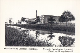 Kaartje Chromo (6x9cm) Glasfabriek Te Lommel ( Kempen ) Verrerie Campinoise Uitgave: Van Melle Gent - Unclassified