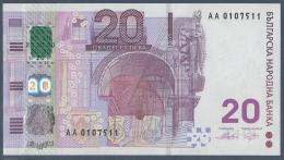#07. BULGARIA. 20 LEVA. 2005. POLYMER / PLASTIC HYBRID. UNC / NEUF. - Bulgarije