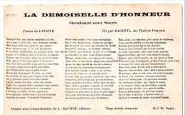 Cpa  Monologue Pour Noces Dit Par Baretta Du Thêatre Français (20.48) - Noces
