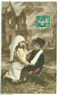 """CPA Enfant """"guerre 14/18, Coeur De Française"""" - Guerre 1914-18"""