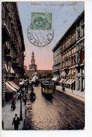 REF 135 : CPA Italie Italia Milano Via Dante Tramway Nestlé - Tramways