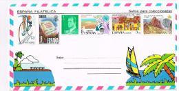 Enveloppe Timbrée Non Cachetée Au Dos Panorama De Benidorn - Espagne