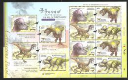 O) 2012 KOREA, THE AGE OF DINOSAURS, 3RD, MNH - Korea (...-1945)