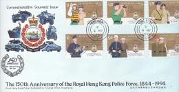 Hong Kong 1994 150th Anniversary Of The Royal Hong Kong Police Force FDC - Hong Kong (...-1997)