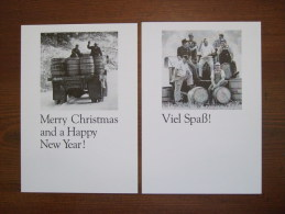 Jack Daniel's Whisky Alcoolich Drink Lot De 2 OLD Cartes Postales - Advertising