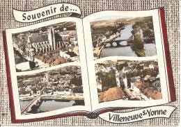 """VILLENEUVE SUR YONNE """"SOUVENIR"""" MULTI VUES ,A VOIR !!   REF 34562 - Villeneuve-sur-Yonne"""