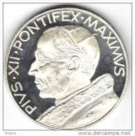 MEDAILLE, RELIGION, PIUS XII PONTIFEX MAXIMUS, Argent (14gr). (AUM14) - Italie