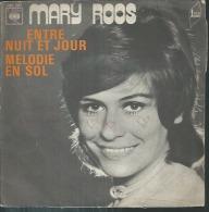 """45 Tours SP - MARY ROOS  - CBS 7247  """" ENTRE NUIT ET JOUR """" + 1 - Vinyles"""