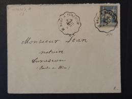 Sage 15c Bleu Sur Lettre Oblitéré St Remy à Tarascon - Postmark Collection (Covers)