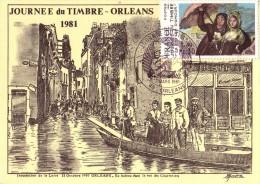 Carte Locale  1er  Jour  JOURNEE  Du  TIMBRE   ORLEANS   1981 - Journée Du Timbre