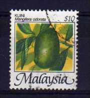 Malaysia - 1986 - $10 Dollar Mango (Perf 13½) - Used - Malaysia (1964-...)