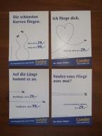 Condor Airlines Lot De 4 Cartes Postales - 1946-....: Moderne