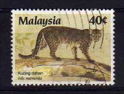 Malaysia - 1987 - 40 Cents Marbled Cat - Used - Malaysia (1964-...)