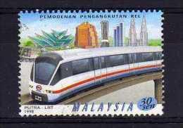 Malaysia - 1998 - 30 Cents Rail Transport (Perf 14½) - Used - Malaysia (1964-...)