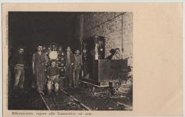 PC, WORKMEN,LOCOMOTIVE IN SIMPLON TUNNEL,BRIGUE-ISELLE OUVERTURE,POSTMARK 1 JUNE 1906 - Autres