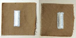 USA - Authentique Collar Patch First Lieutenant / Sand Color - Années 50/60 - Ecussons Tissu