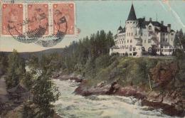 Finnland, IMATRA, Schloss, Seltene Russische 3 Fach Frankierung Und Stempel, Verlag Kunstanstalt Eismann Leipzig - Finnland