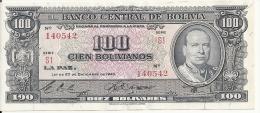BOLIVIE 100 BOLIVIANOS  1945 AUNC P 147 - Bolivia