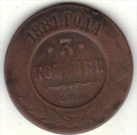 RUSSIE Y  11.2 1881 .  (3SP33) - Rusia