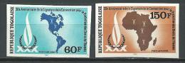 """Togo Aerien YT 434 & 435 (PA 434 & 435) ND """" Droits De L´Homme """" 1980 Neuf** - Togo (1960-...)"""
