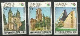 """Togo YT 1008 à 1010 ND """" Cathédrales Et églises """" 1980 Neuf** - Togo (1960-...)"""