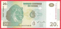 Congo - 20 Francs 2003 UNC / Papier Monnaie - Congo - Congo