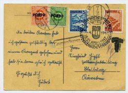 PORTO ANK/Mi. 189+190 Auf Postkarte - Portomarken