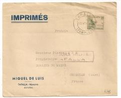 LETTRE DE TAFALLA A FRANCE / CENSURE  CP7855 - Marcas De Censura Nacional
