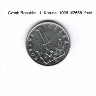 CZECH REPUBLIC    1  KORUNA  1996   (KM # 7) - Repubblica Ceca