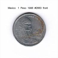 MEXICO    1  PESO  1986   (KM # 496) - Mexico