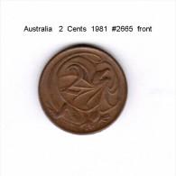 AUSTRALIA    2  CENTS  1981   (KM # 63) - Decimal Coinage (1966-...)