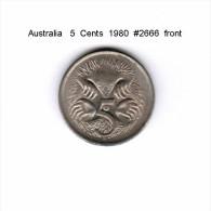 AUSTRALIA    5  CENTS  1980   (KM # 64) - Decimal Coinage (1966-...)