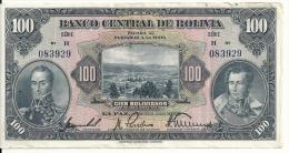 BOLIVIE 100 BOLIVIANO  L.1928 VF P 125 - Bolivia
